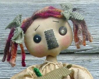 CF222 Strawberry Patchwork - PDF ePattern Cloth Doll Raggedy Pattern