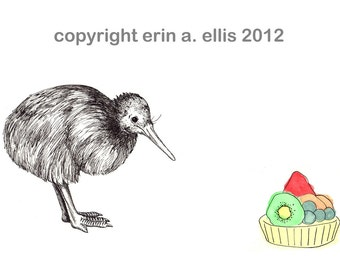 Kiwi Bird 8x10 Print