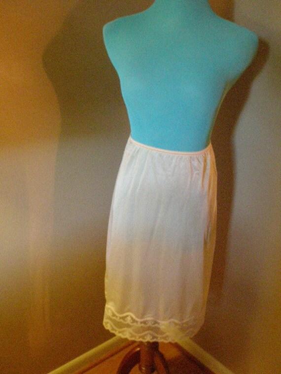 SALE-SALE Vintage Maidenform Beige Half Slip -- NEW Never Worn