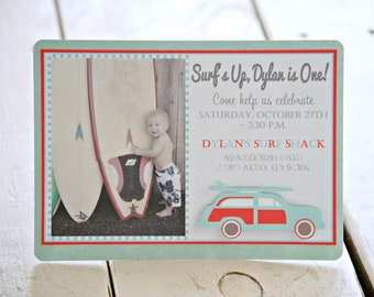 The Vintage Surf Collection - Custom Invitations from Mary Had a Little Party