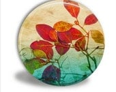 Buy 3, Get The 4th Free- Pocket Mirror with Velour Bag - FALL FOLIAGE