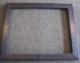 16x20 Quarter Sawn Red Oak Blue Dye Picture Frame