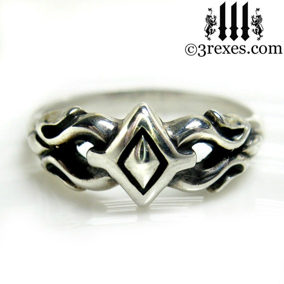 Tiny Princess Friendship Ring Sterling Silver Gothic Fairy Tale Size 6