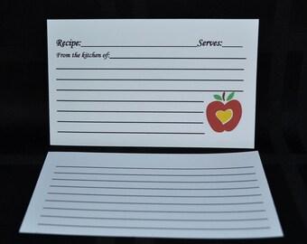 CUSTOM Recipe Cards, Apple