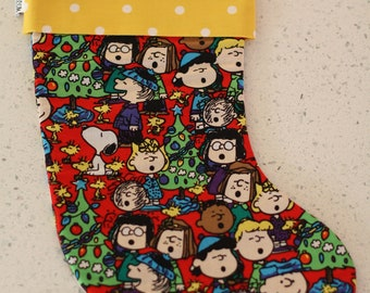 Christmas Stocking - Peanuts Snoopy Charlie Brown
