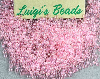 11/0 Round TOHO Glass Seed Beads #171-Dyed-Rainbow Ballerina Pink 15 grams