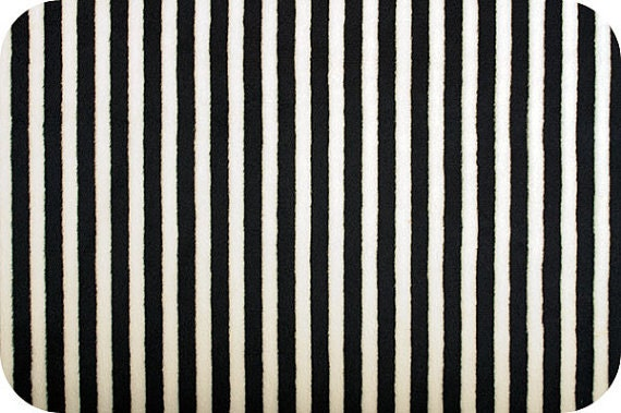 Black And White Striped Minky Fabric Half Yard