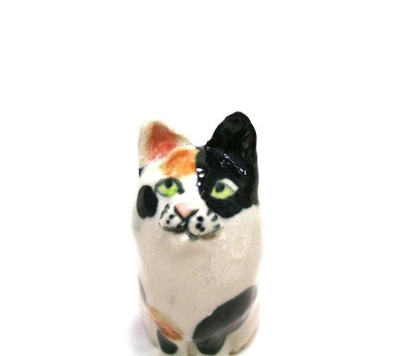 cat figurine - Calico Kate - porcelain figurine