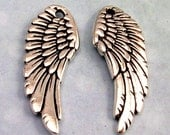 Tierracast Angel Wing, Antique Silver, 2 Pc. TS20