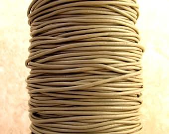 Greek Leather Cord Sage Grey 2-MM 12-feet  M127