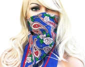 Vintage Floral Handkerchief Scarf- Sarah Coventry