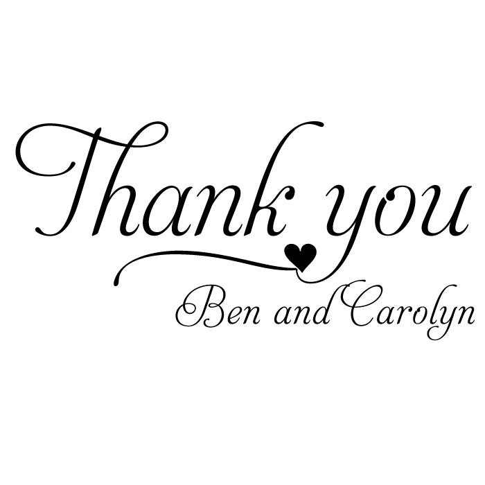 Wedding Thank You Stamp Stamp Thank You Tags By