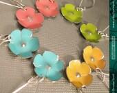 Tiny Gelato Flowers -- Upcycled Tin Earrings