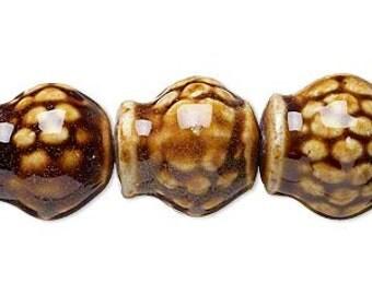 Dark Honey Vase Beads