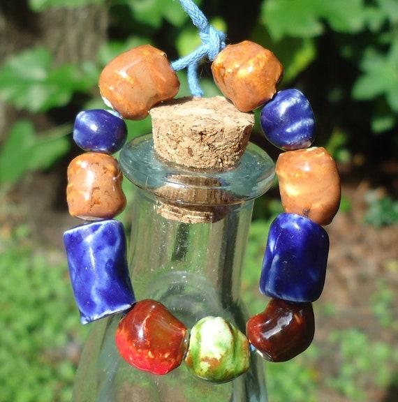 11 Loose Stoneware Beads