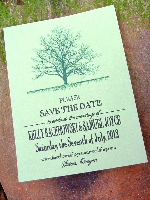 Printable save the date cards tree by sweetinvitationco on etsy for Printable save the date cards