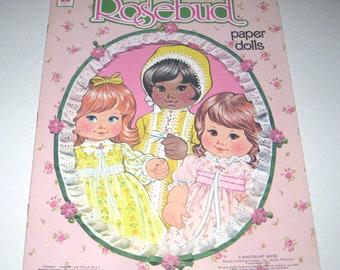 Vintage 1970s Rosebud Paper Doll Book for Children Uncut