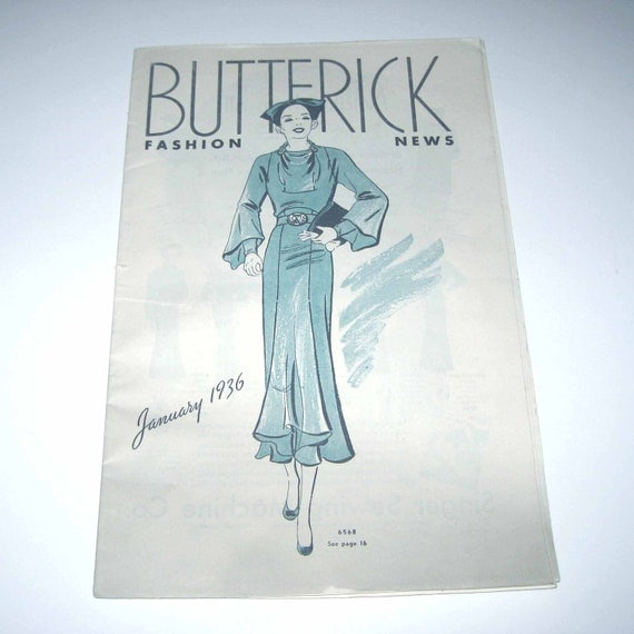 Butterick Fashion Pattern Book for January 1936