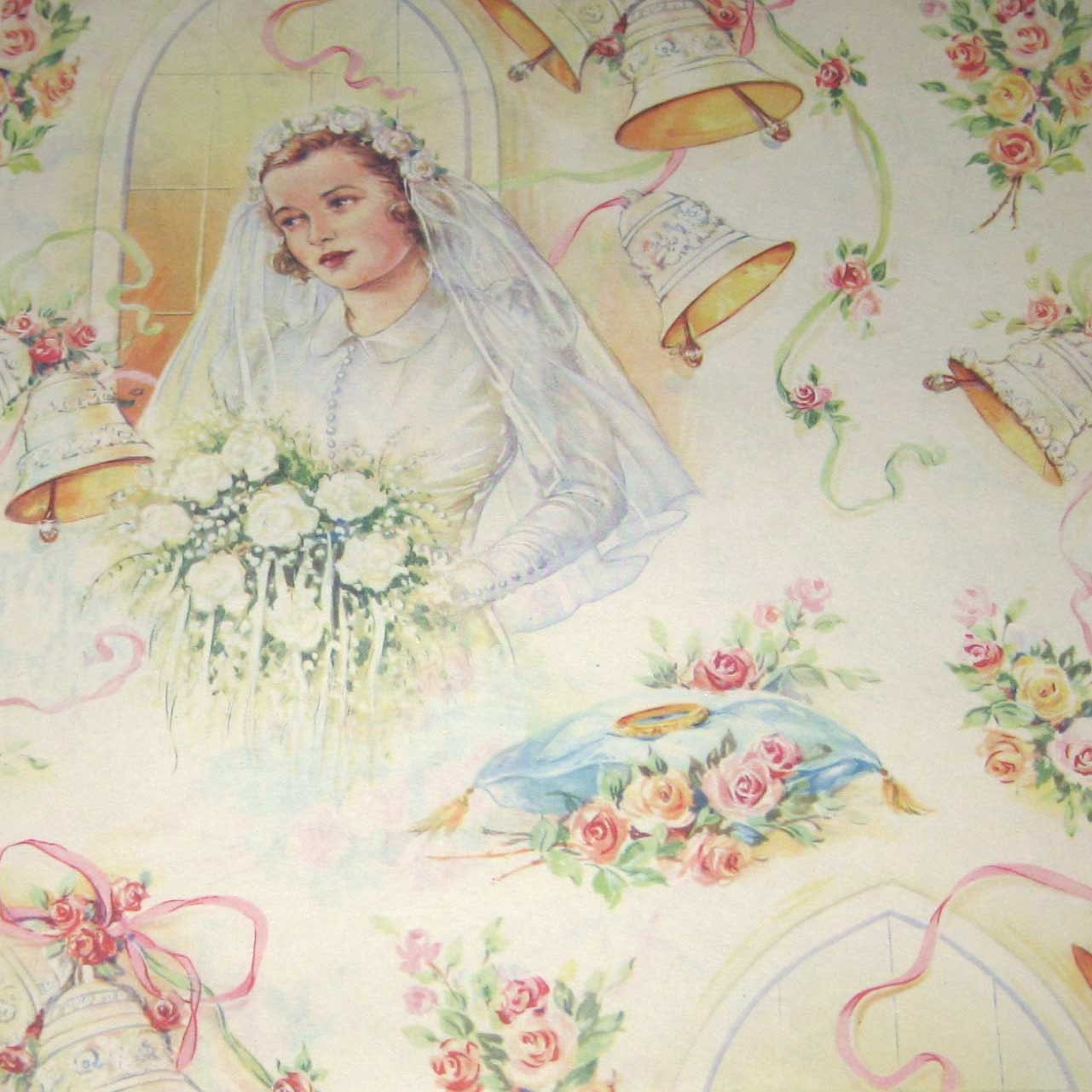 Wedding Gift Paper: Vintage Wedding Wrapping Paper Or Gift Wrap By