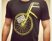Ride It Like You Stole It | Bicycle | Hand Screen Printed | Silk Screened | Custom T-Shirt | Made in USA