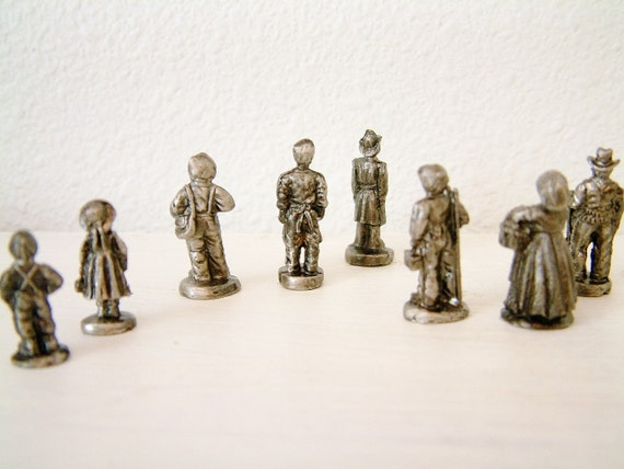 Pewter Miniature Figurines Americana Collection Group of 3 boxed sets