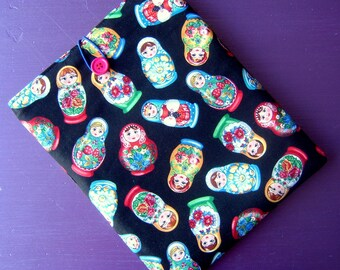 Ipad cover cozy sleeve padded made with rare russian doll fabric fits ipad 1 2 3 4