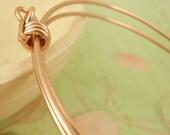 Bangle Bracelet 14kt Rose Gold Filled  - Adjustable and Comfortable