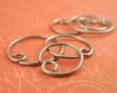 1 Pair - Niobium Hypo Allergenic Earring Hoops - 20 gauge - YOU PICK Size
