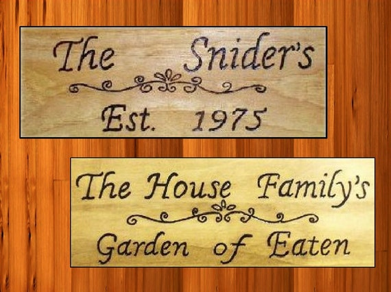 Personalized Sign Established Year With Family Name