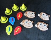 12  Curious George Inspired Fondant Cupcake Toppers