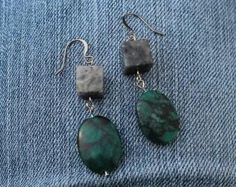 Earrings - Marble and Granite