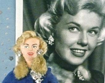 Doris Day Doll Miniature Old Hollywood Fun Art