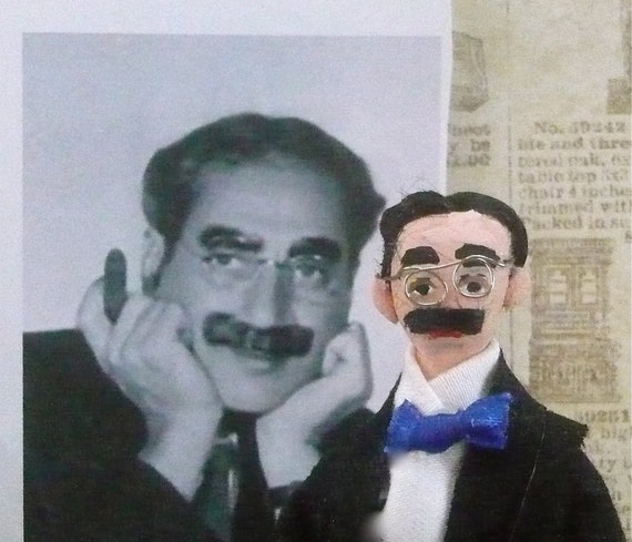 Groucho Marx Doll Miniature of Old Hollywood Comedian