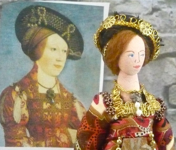 Queen Doll Miniature Anne of Hungary and Bohemia