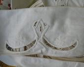 10 YARDS Ivory WIDE Embroidered TRIM Cutwork beautiful design