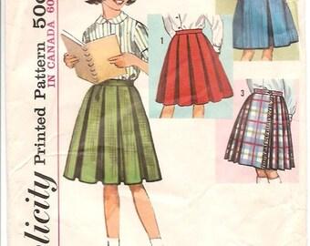 Vintage Simplicity 5123 Skirts pattern Girls Size 12