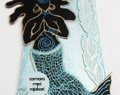 RESERVED -BAYAKA- OOAK Mermaid of the Sea, Goddess  Artwork