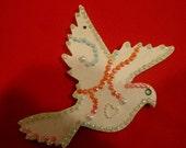 Two sided Handmade Wooden Dove Ornament/Suncatcher