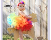 Baby Rainbow Tutu Dress Petti Tutu Rainbow Tutus For Children 9 12 18 Months