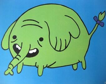 Adventure Time Inspired Print // Fan Art // Tree Trunks Art Print