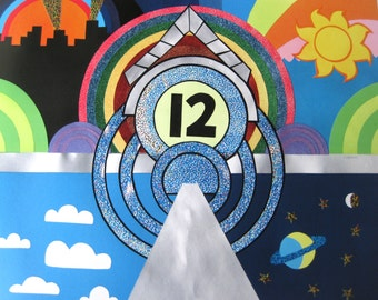 Sesame Street Inspired Print // Fan Art // Twelve 12 Pinball Animation Art Print