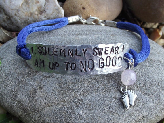 SALE - Not All Those Who Wander Are Lost - hand stamped aluminum bracelet