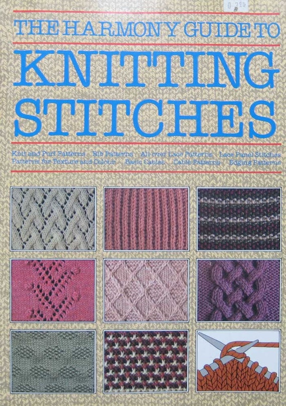 The Harmony Guide To Knitting Stitches Pattern Book