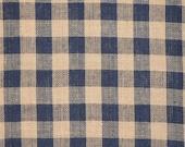 Large Check Material | Homespun Material | Navy Large Check Material |  Cotton Material | Home Decor Material | Quilt Material |1 Yard