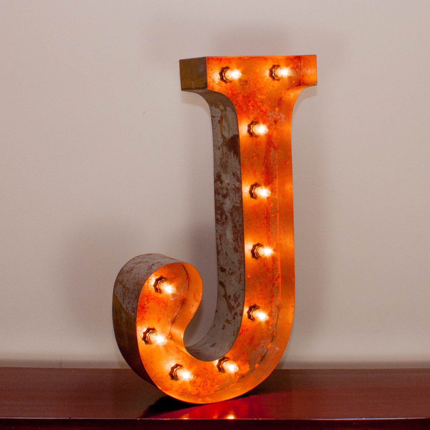 Vintage Marquee Light Rusted Home Decor 24 Inch By