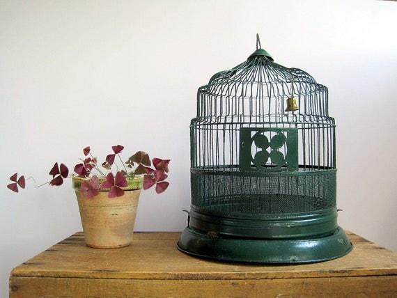RESERVED  Vintage Bird Cage