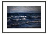 lake landscape photography waterscape blue windmills PRINT ONLY home decor office decor nautical