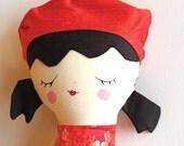 BE My Valentine Doll - Handmade Doll -- OOAK Doll - Handpainted Doll -- Rag Doll - Cloth Doll - Keepsake Doll - Silk Doll