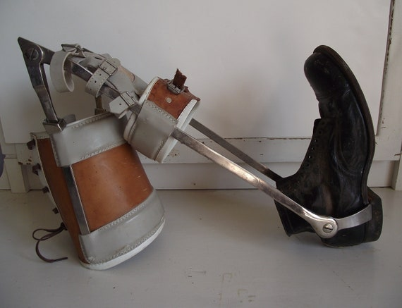 Steampunk Leg Brace with Shoe - Polio or Prosthetic
