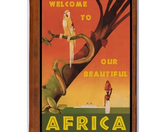 AFRICA 1- Handmade Leather Photo Album - Travel Art